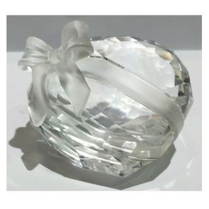 Swarovski Heart with Bow Paperweight Figurine